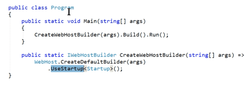 ASP.NET Core main method