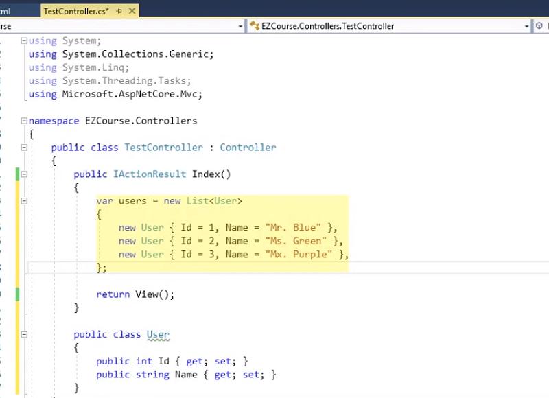 ViewBag in ASP.NET Core MVC