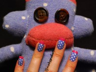 sock-monkey-french-tips-spots-blue-nail-polish-2