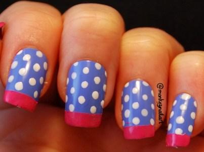 sock-monkey-french-tips-spots-blue-nail-polish-3