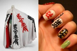 david-bowie-inspired-nail-polish-nails-chinese-symbols-green-stripes-studs-original