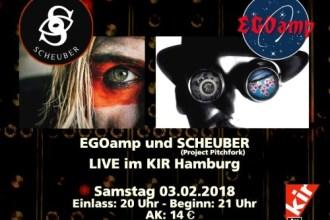 [VERLOSUNG] EGOAMP und SCHEUBER live in Hamburg
