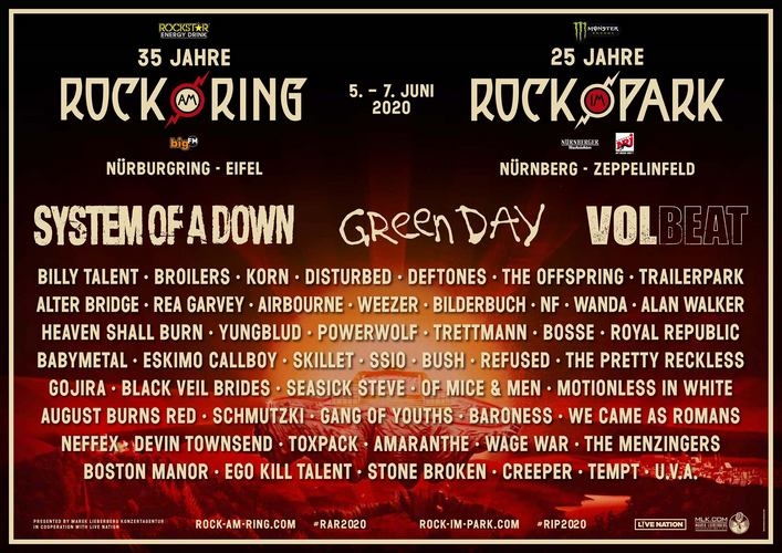 Rock Im Park Bands 2021