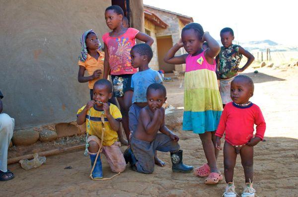 Zulu village children in South Africa