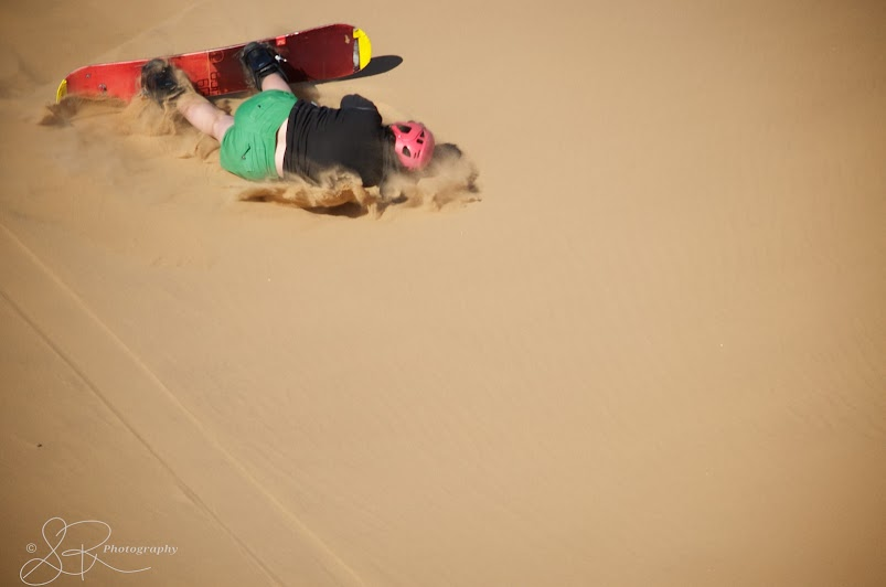 Rolling in the sand in Dorob National Park.