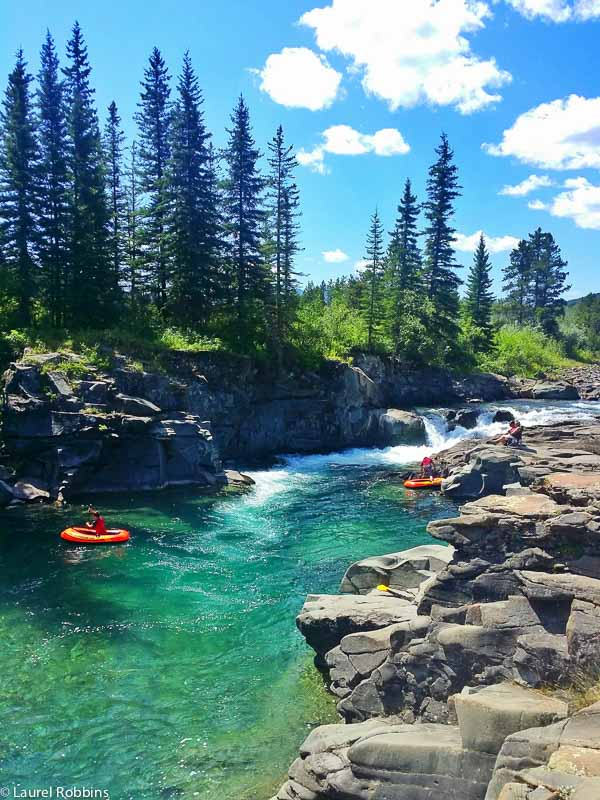 Castle Falls is a great swimming hole in the Castle Crown Wilderness.