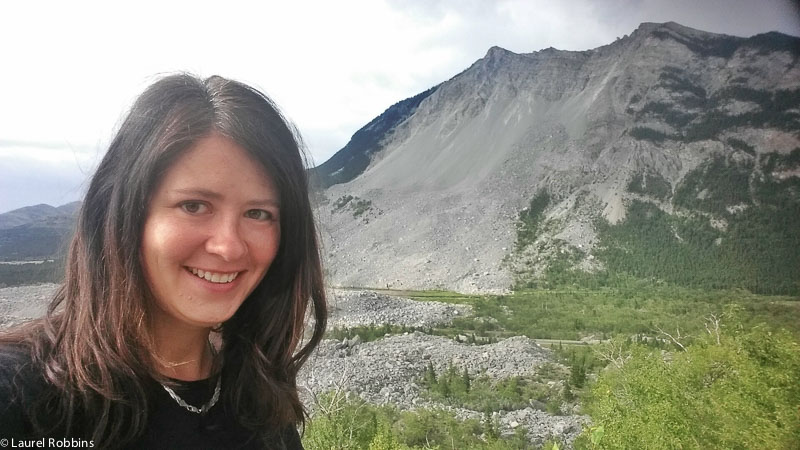 View of Frank Slide from the Interpretive Centre