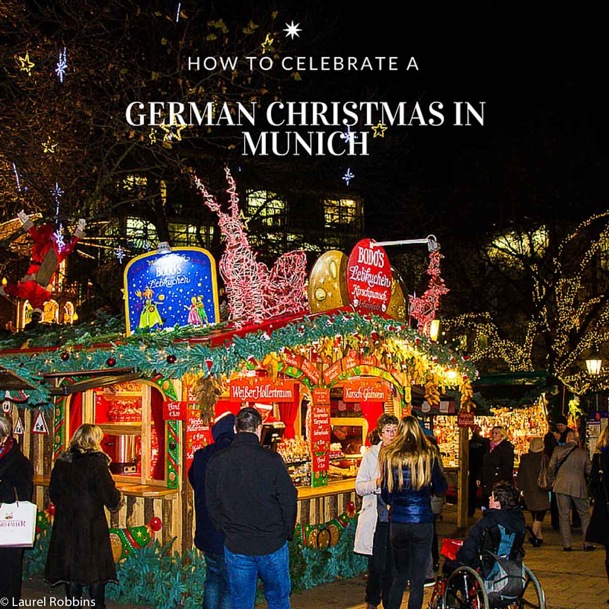 a hut at a German Christmas market in Munich