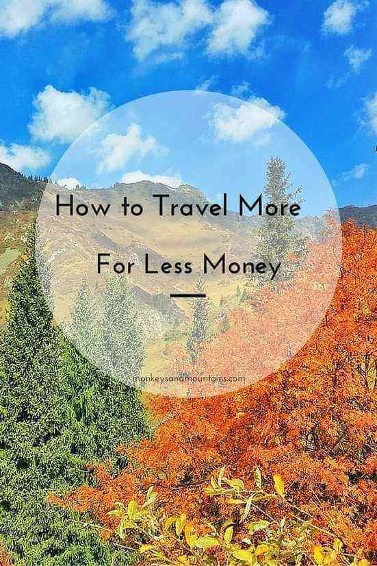 travel tips for how to travel more for less money