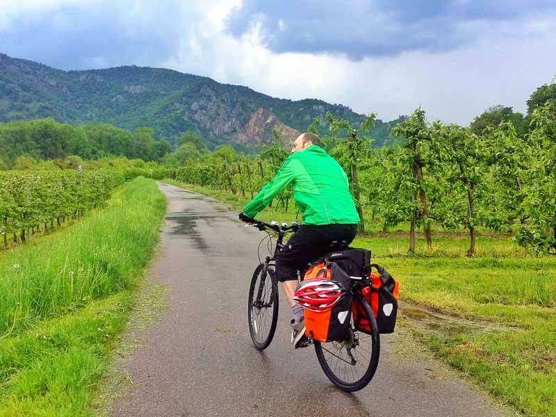 Cycling Wachau Valley on the Danube River Cycle Route from Passau, Germany to Vienna, Austria