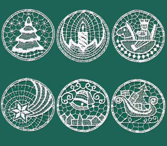 Lace Christmas Ornaments from Germany