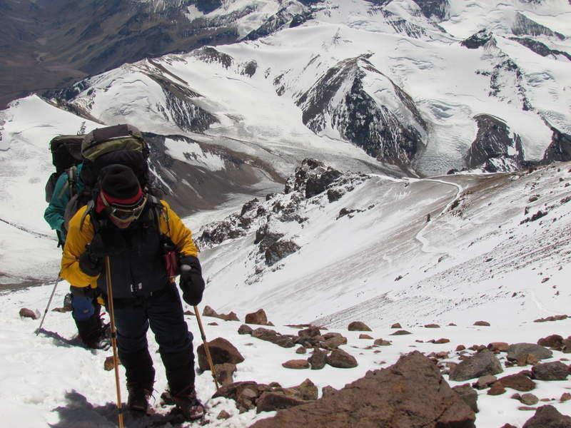 mountaineering in aconcagua argentina
