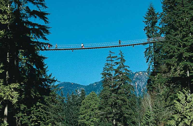 Take an exhilarating walk on the Capilano Suspension Bridge, a must-do when you visit Vancouver.