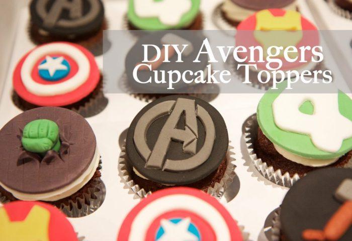 Avengers Birthday Cupcake Toppers Monkeysmiles