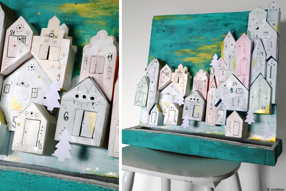DIY Adventskalender Häuser - Grafikdesign-Fotografie-Food-Blog