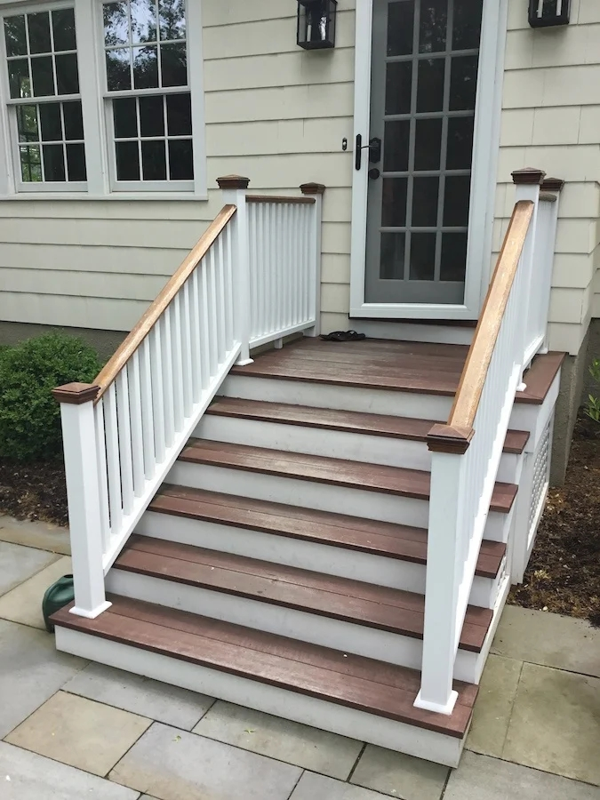 Staining Exterior Stairs In Chatham Nj Monk S Home   Outside Stairs For House