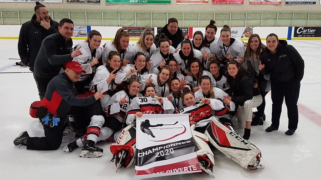 Tournoi de hockey féminin de Québec : la médaille d'or aux Titans!