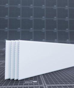 Lames de lambris PVC 250mm en blanc