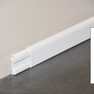 Plinthe cimaise PVC décor revêtu blanc - ouvert + schéma