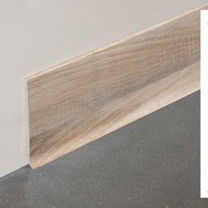 Plinthe rigide à lèvre PVC décor revêtu chêne naturel - 100mm