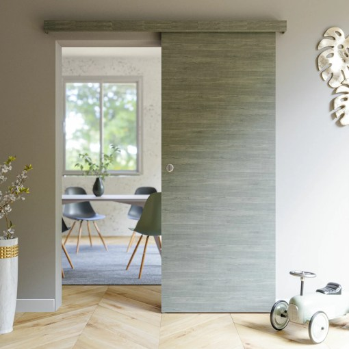 Porte coulissante Coulicool Gris blanchi