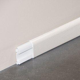 Plinthe cimaise PVC en frêne blanc
