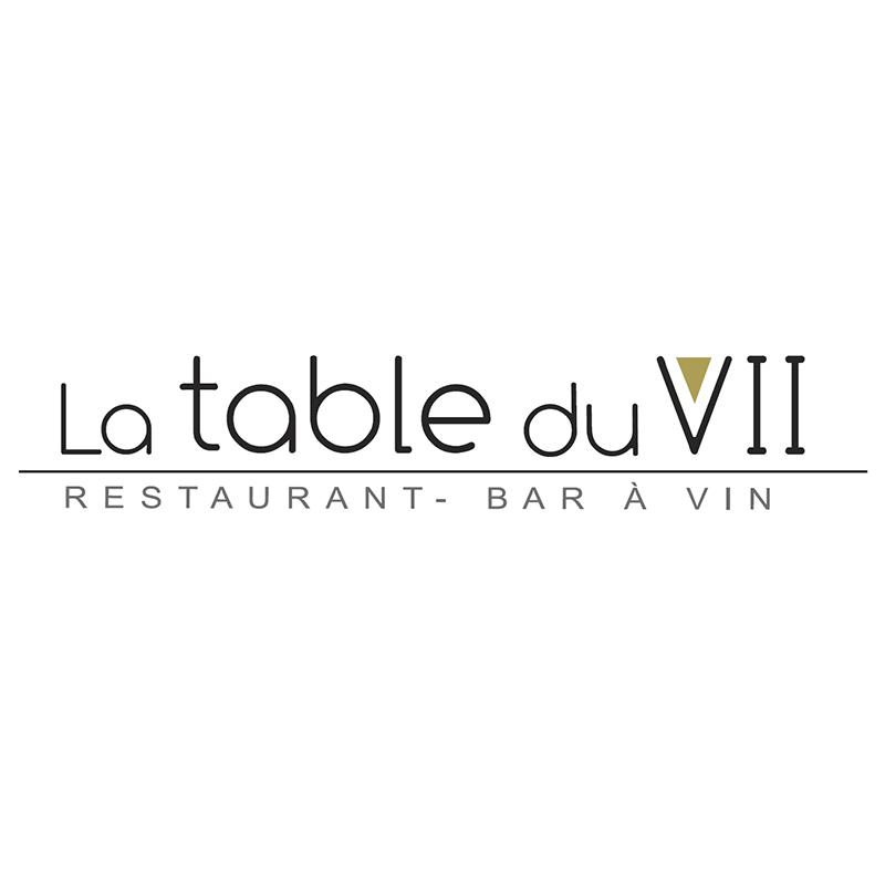 Logo du restaurant La table du sept ayant mis en place le menu digital et le cahier de rappel