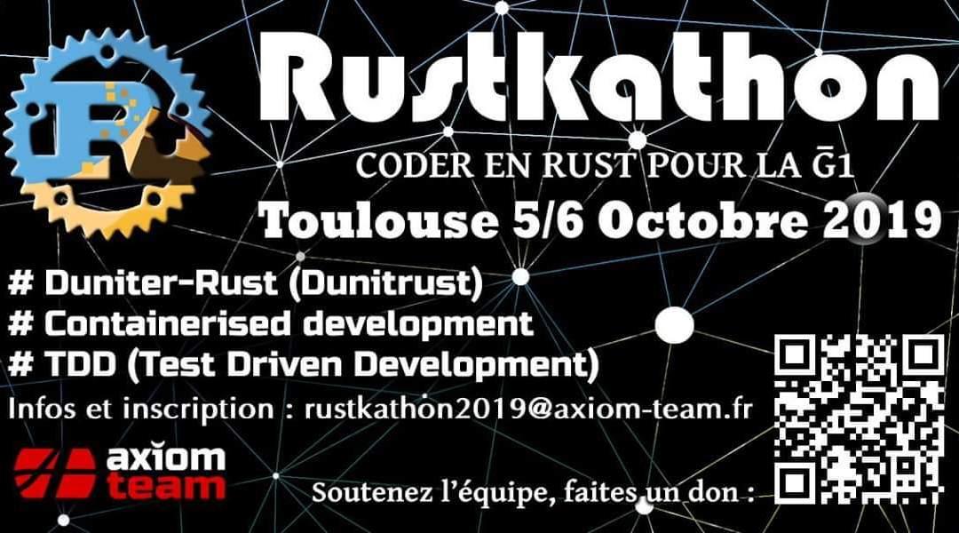Rustkathon 2019 Toulouse : Coder en Rust pour la Ğ1