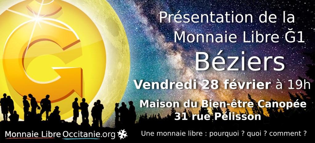 Présentation Monnaie Libre à Béziers