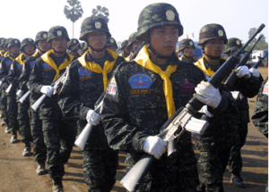 The Democratic Karen Buddhist Army (DKBA) ( Photo-http://www.ibiblio.org)