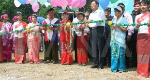 The opening ceremony of KNU liaison office in Three Pagoda Pass