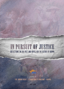 "Front cover of the report, ""In Pursuit of Justice"" (Photo: HURFOM)"