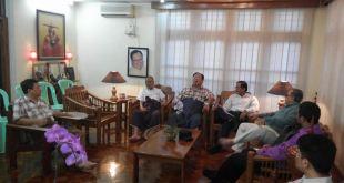 NCCT and UNA meeting informal meeting in Nay Pyi Taw (photo: U Nyo OhnMyint's Facebook)