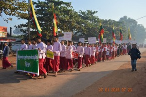Protestors march in Kamarwet Town