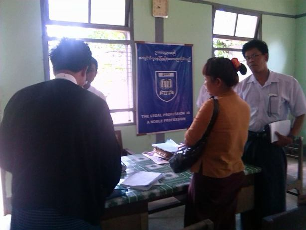 Ma Thandar at the Kyaikmayaw Court office