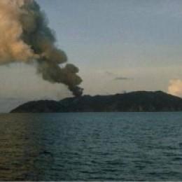 Volcano eruption on Barren Island (photo: Internet)
