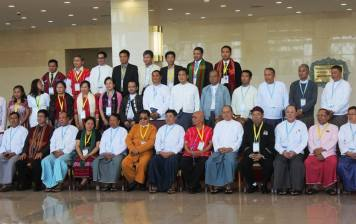 The president and ethnic armed group leaders