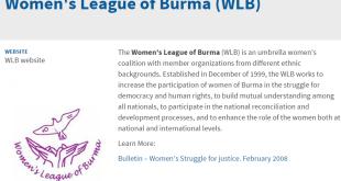 Women's League of Burma webpage WLB Website(Copy)