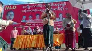 U Tin U speaking in Ye Town ( Photo: Aung Naing Win)