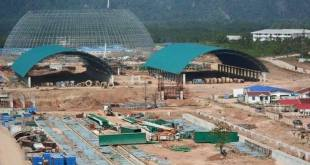 MCL's ongoing cement factory construction [Photo: MNA]
