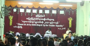 Photo caption: International Women's Day event in Moulmein, Mon State (Photo: MNA)
