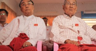 Nai Htet Lwin (left) and Nai Ngwe Thein (right) of MNP (Photo: MNA)