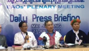 Ethnic leaders at Mai Ja Yang summit (Photo: MNA)