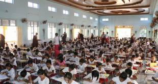 Students are taking summer school exams led by monks (Photo: MNA)