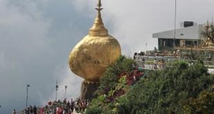 """The Popular Kyaiktiyo Pagoda, """"The Golden Rock"""" (Photo: MNA)"""