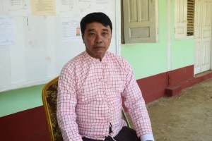 AMDP candidate Nai Win Htut competing for Chaungzone Township's Pyithu Hluttaw (Photo: MNA)