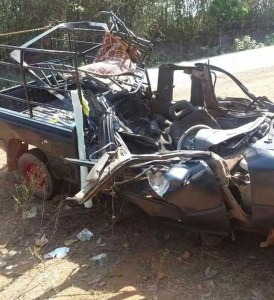 Car seen damaged after crash in Belin Township (Photo: KyeMon)