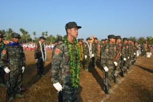 Mon soldiers seen at 70th Mon National Day celebration (Photo: MNA)