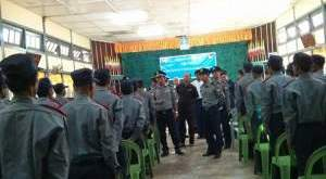 Police prepared for the 2015 general election in Mon State (Photo: MNA)