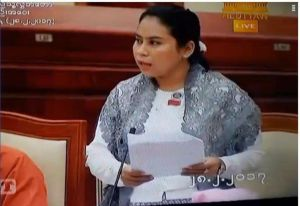 MP Mi Kon Chan urged the Pyithu Hluttaw to name the Mon State Bridge for General Aung San